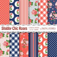 Shabby Chic Digital Paper SHABBY RED NAVYBLUE by DigitalStories  https://www.etsy.com/listing/176918235/shabby-chic-digital-paper-shabby-red?ref=shop_home_active_11
