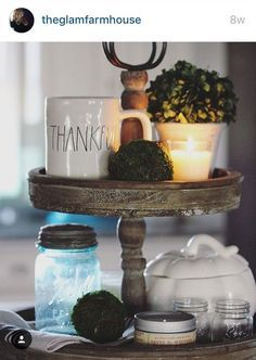 """Looking for that perfect tiered tray for a coffee bar or a guest bathroom? This is that tray! So versatile for all those decorating projects. 15"""" round x 18 ½"""" tall. Photographs provided by Jess (Hous"""