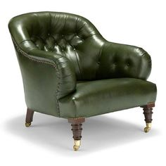 Emile Tufted Chair @ Michael S Smith Inc Tufted Chair, Chesterfield Chair, Swivel Chair, Tub Chair, New Furniture, Furniture Design, Masculine Room, Barrel Chair, Accent Chairs