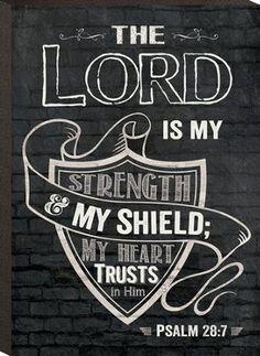 The Lord Is My Shield, Mini Chalkboard Art