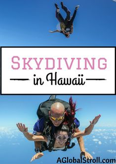 Skydiving Hawaii.  Amazing experience for the adventure junkies out there!