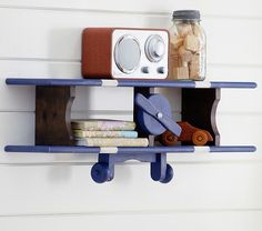 Airplane Shelf | Pottery Barn Kids: Boompaw can do something like this!