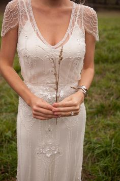 Glamorous beaded wedding dress