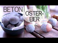 DIY-Osterdeko/Frühlingsdeko selber machen romantische XXL Ostereier aus Beton in zarten Pastelltönen - YouTube