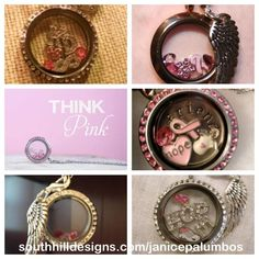 Honor someone you love who has fought breast cancer with a breast cancer locket.