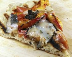 grilled nectarine and goat cheese pizza - i can't wait for summer