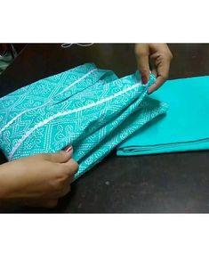Bandhani print kurta set packed and dispatched in fabric scrap jhola Fabric Scraps