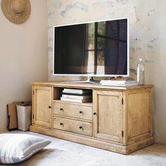 Meuble TV en chêne L 145 cm