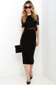 When You Believe Black Lace Crop Top at Lulus.com!