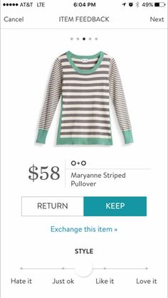 Stitch Fix Item: O+O Maryanne Striped Pullover #stitchfix