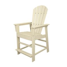 Polywood South Beach Counter Chair in Sand Patio Bar Stools, Bar Stool Chairs, Counter Chair, Rattan Chairs, Wooden Chairs, Adirondack Chairs, Outdoor Chairs, Outdoor Furniture, Outdoor Decor