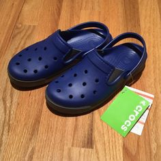 Citilane clog Cerulean blue and charcoal gray. Narrower fit than classic. Brand new. crocs Shoes Mules & Clogs