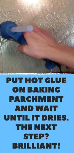 Put hot glue on baking parchment and wait until it dries. - Crafts with hot glue - Put hot glue on baking parchment and wait until it dries. Hot Glue Art, Crafts With Hot Glue, Glue Gun Projects, Glue Gun Crafts, Diy Glue, Fun Craft, Craft Ideas, Craft Tutorials, Gun Art