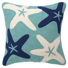 Starfish Crewel Pillow - cute for the future beach bungalow