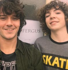 Young Fergus with his grown up version!