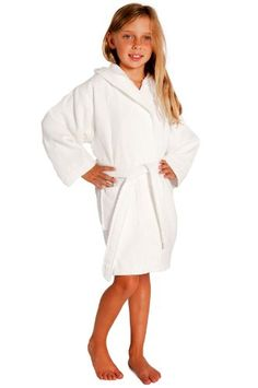 4c4aa26e61 Amazon.com  Kids Hooded Waffle Robe  Clothing