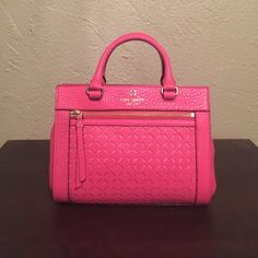 """NWT Kate Spade mini Romy NWT Kate spade mini Romy in Cabernet pink. Great cross body purse to take with you. Measures at approximately 8"""" high 10"""" length and 4"""" wide. No trades. kate spade Bags Crossbody Bags"""