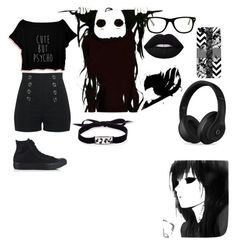 """day71"" by dreabelly on Polyvore featuring Lime Crime, Muse, Converse, Roxanne Assoulin, Beats by Dr. Dre and Casetify"
