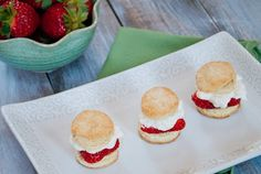 Strawberry Shortcake Sliders. I LOOOVE this idea!