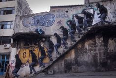 itscolossal:  Artist Erdal Enci Clones Himself to Create Elaborate Choreographed GIFs