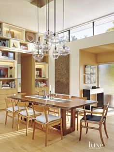 Contemporary Cream Dining Room