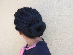 Natural Hair | Twist and Bun