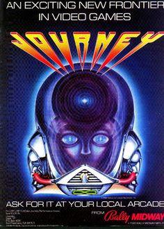 Journey arcade game advertisement (1983, Bally Midway)