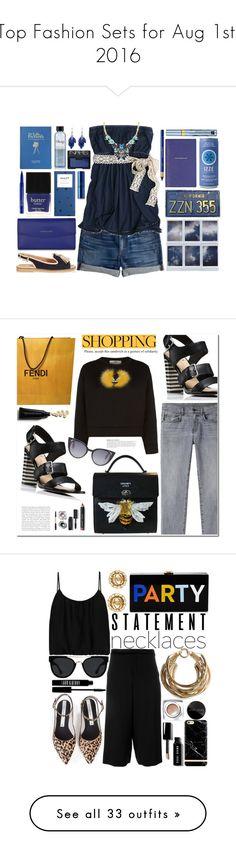 """""""Top Fashion Sets for Aug 1st, 2016"""" by polyvore ❤ liked on Polyvore featuring J.Crew, Hollister Co., Smythson, Estée Lauder, Alexa Starr, CHARLES & KEITH, Butter London, Smashbox, philosophy and Lipstick Queen"""
