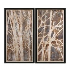The Uttermost Twigs Hand Painted Wall Art will add a touch of outdoors to your wall décor. This wall art features two canvas' hand painted with white twigs against a solid, background for a visually stimulating contrast of light and dark colors. Hand Painting Art, Painting Frames, Abstract Paintings, Abstract Art, Wall Art Sets, Framed Wall Art, Canvas Frame, Canvas Wall Art, Hand Painted Walls
