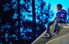 """One of the pictures of the session for the cover of J.Cole album """"2014 forest hills drive"""".  Love the dress style."""