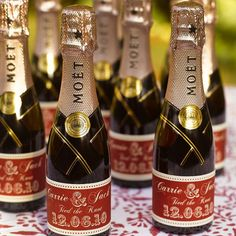 set of five personalised bottle labels by katie sue design co   notonthehighstreet.com