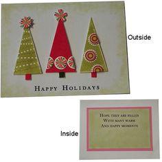 images of homeade christmas cards | Retro Christmas Trees Card - Home-Made Christmas Card Gallery
