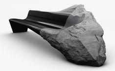peugeot design lab handcrafts ONYX sofa with lava and carbon fiber