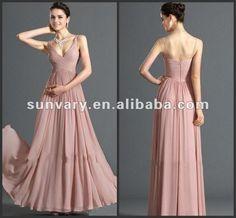 Moda 2013 un - línea de cuello en v de noche de gasa vestidos formales