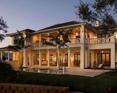 british west indies architecture | ... » Beautiful British West Indies Residence Exterior Night View Image