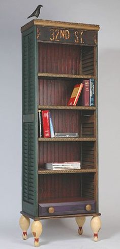 Bookshelf made from shutters