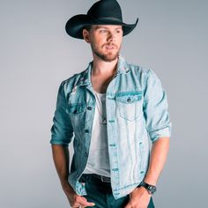 Brett Kissel Denim Button Up, Button Up Shirts, Country Artists, Eye Candy, Wallpapers, Jackets, Tops, Fashion, Down Jackets