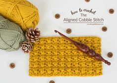 How To: Crochet The Aligned Cobble Stitch - Easy Tutorial