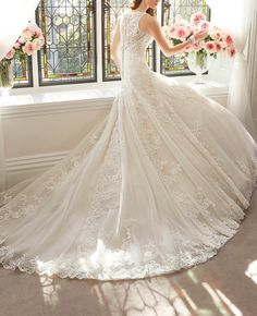 8c933c80b3 Womens Lace Ivory Wedding Dress 2018 ALine Sweep Applique Birdal Dresses    Check out this great product.-It is an affiliate link to Amazon.   WeddingDress