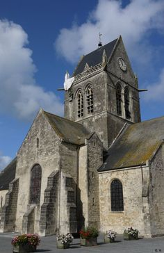 Sainte-Mère-Eglise - Normandie, France. Where 100's of US airborne troops landed in WW2.