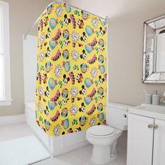 Mickey & Minnie | Super Hero Pop Pattern Shower Curtain