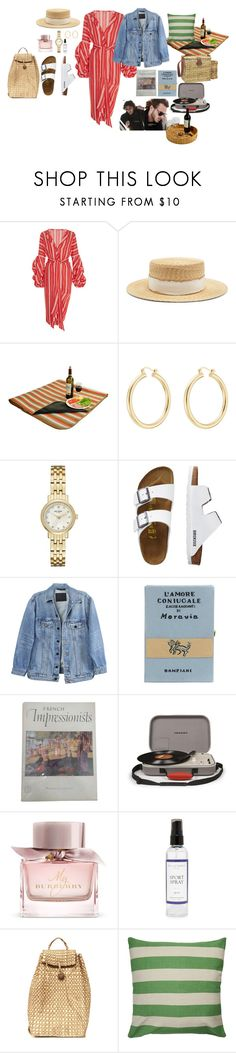 """Başlıksız #1060"" by suana123 on Polyvore featuring moda, Johanna Ortiz, Filù Hats, Isabel Marant, Kate Spade, TravelSmith, Y/Project, Olympia Le-Tan, Crosley ve Burberry"