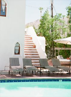 Korakia Pensione in Palm Springs is a study in fine lines. Photographed by Lane Dittoe