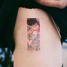 Gustav Klimt tattoo by Sol