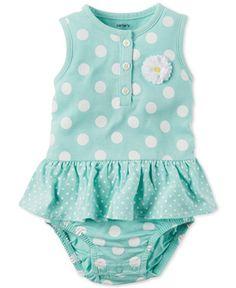 Carter's Baby Girls' Dot & Daisy Romper  FROM MACY'S