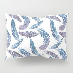 Blue feathers Pillow Sham