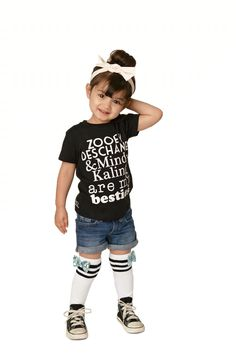 Adorable Zooey Deschanel & Mindy Kaling tee from Halo Collective Model: (IG) Cute Baby Girl, Cute Babies, Cute Baby Photos, Zooey Deschanel, Beautiful Children, Cute Kids, Character Inspiration, What To Wear, Kids Fashion