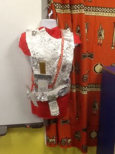 A replica of Roman armour made by some of my year 3/4 class.