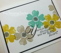 stampin up flower shop and punch card ideas | Flower Shop | Your Stamping Teacher by sheryl