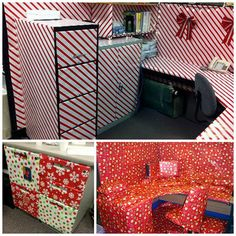 Office Cubicle Christmas Decorating Ideas to make your Office look ready for the Holidays. Office Cubicle Christmas Decorating Ideas to make your Office look ready for the Holidays Office Cube, Cool Office, Christmas Cubicle Decorations, Office Decorations, Christmas Ideas, Redneck Christmas, Grinch Christmas, Christmas Tree And Fireplace, Work Cubicle